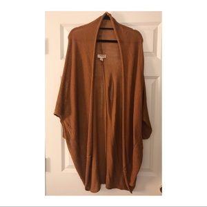 Forever 21 Draped Knit Kimono Copper S/M